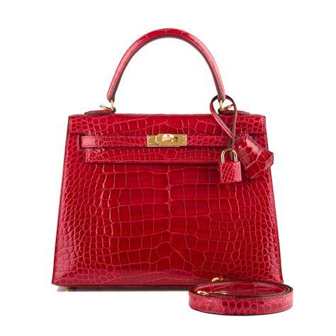Chanel Semi Shiny Alligator Shopping Bag by Hermes Bag 25cm Braise Shiny Alligator Gold Hardware