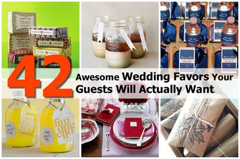 wedding guest gift ideas diy 42 awesome wedding favors your guests will actually want