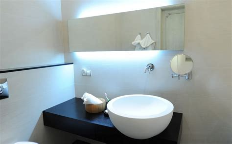 bathroom mirrors lights behind how to pick a modern bathroom mirror with lights