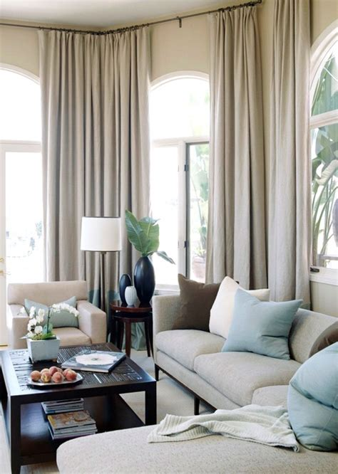 draperies for living room linen curtains transitional living room bhg