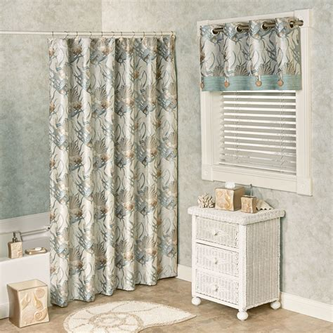 Seashell Shower Curtain by Coastal Seashell Shower Curtain