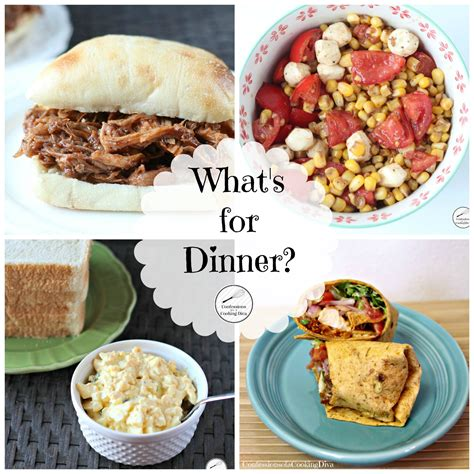 what s for dinner week four confessions of a cooking diva