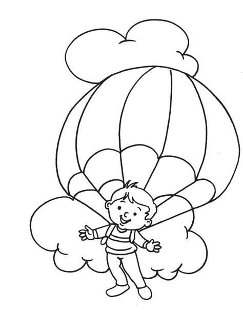 parachute coloring pages kids coloring