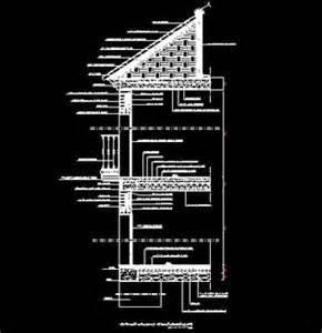 coupe transversale d une habitation individuelle 224 toiture