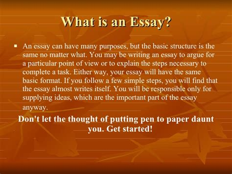 Basic Guide To Essay Writing by Basic Guide To Writing An Essay 1