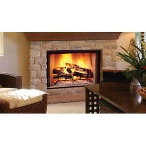 biltmore 44 quot herringbone brick radiant wood burning
