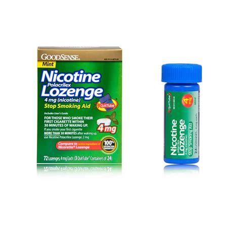 Detox From Nicotine Lozenges by Goodsense Nicotine Lozenge Mint 72 Count