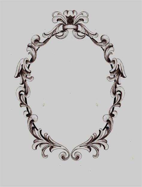 filigree pattern frame filigree frame hanson art facebook tattoos pinterest