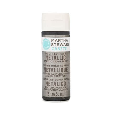 martha stewart 174 metallic paint brushed pewter 2 oz
