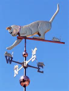 Cat Weathervane Cat With Mice Weathervane Personalization Available