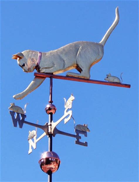 The Weathervane Cat With Mice Weathervane Personalization Available
