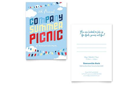 Company Summer Picnic Invitation Template Word Publisher Microsoft Publisher Invitation Templates