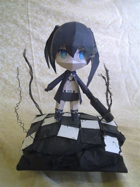 Black Rock Shooter Papercraft - brs diorama papercraft by borghie on deviantart