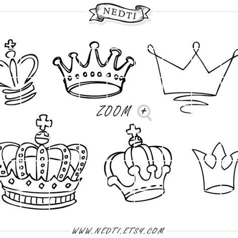 doodle name tiara kronen doodle gezeichnet vektor prince crown digitales