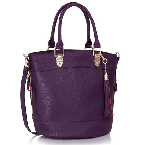 Tassel Bag wholesale ls00321 purple tassel charm shoulder tote bag