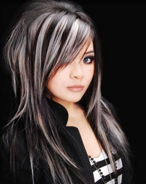 blond highlights 2014 black hair and platinum blonde highlights 2014 hair