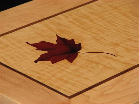 Blood Wood Inlay Into Maple Veneer Wood Projects