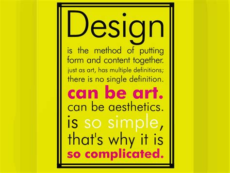 Graphic Design Definition Of Form | quot design is the method of putting form and content together
