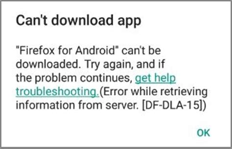 Play Store Can T Error 0 Play Store Error Df Dla 15 While Downloading Apps Fix Errors