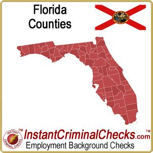 Free Criminal Record Check Florida Florida County Criminal Background Checks And Fl Court