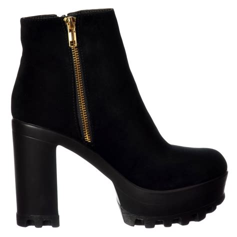 gold high heel boots shoekandi high heel platform ankle boots gold zip