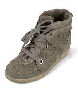 hi top suede hidden wedge sneakers annakastleshoes com