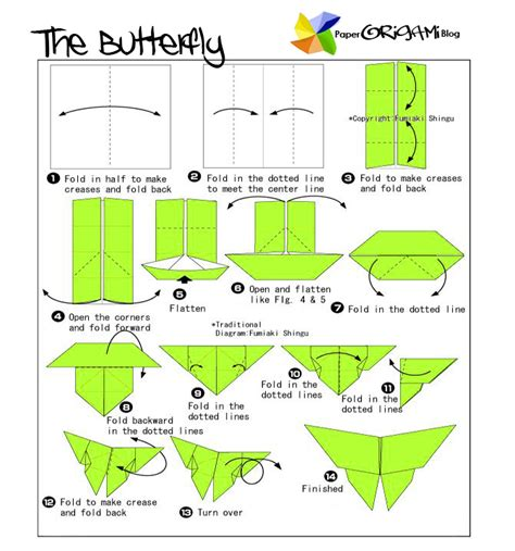 How To Make A Paper Butterfly For - bug origami butterfly paper origami guide