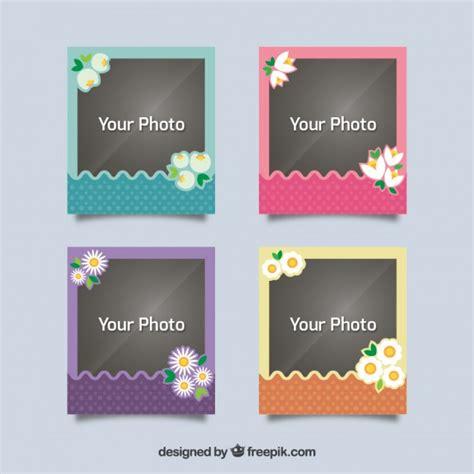 scaricare cornici per foto gratis foto d epoca cornici con fiori scaricare vettori gratis