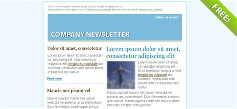 blue email marketing newsletter template psd files