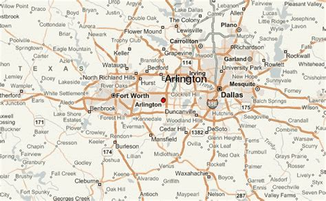 arlington texas map arlington location guide