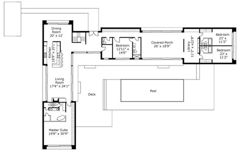 l shaped house plans with pool in middle l shaped container home bungalow pinterest