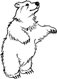 Disegno Di Orso In Piedi Da Colorare  Disegni E Stampare sketch template