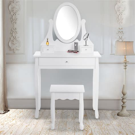 Vanity Dresser With Mirror And Stool by Ikayaa Bedroom Vanity Dresser With Mirror Stool Set