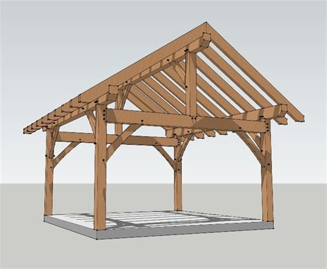 timber frame home shed porch 16x16 timber frame plan timber frame hq
