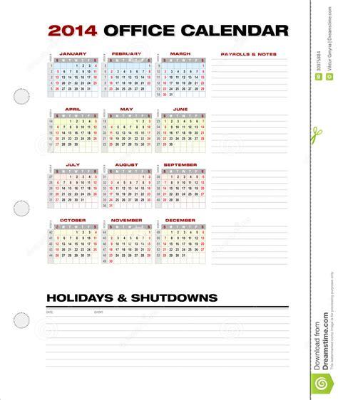 office calendar template 2014 2014 clean corporate office calendar week numbers vector