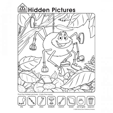 Easy Hidden Picture Coloring Pages   Murderthestout