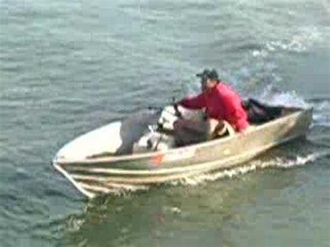 jet ski in jon boat crazy capizzi on his home made jet boat quot jet jon quot youtube