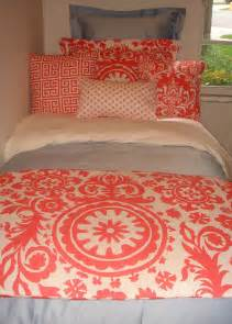 coral colored bedding sets coral damask designer bedding set from decor 2 ur