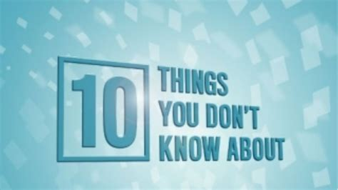 10 Things You Dont About Chocolate by 10 Things You Don T About