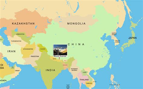 where is mt everest on a world map mount everest maps map of mount everest base c