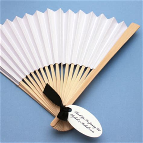 palm hand fans wedding favors white paper hand fans set of 10 palm and bamboo hand