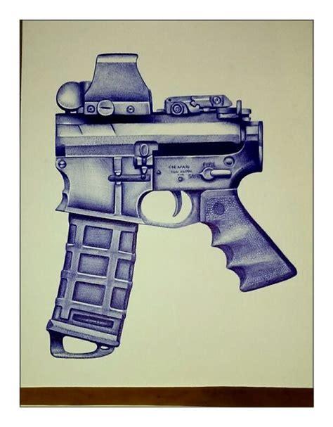 ballpoint pen tattoo gun tattoo drawings firearms and guns on pinterest