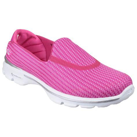 skechers womens go walk 3 slip on shoes ebay