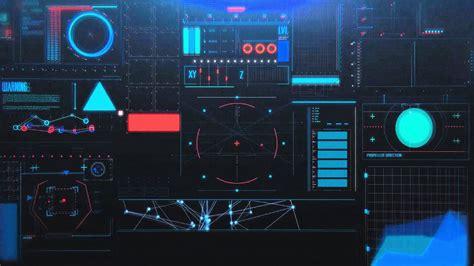 hi tech hi tech hud 箘nterface screen free footage