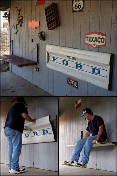 tailgate bench on wall how to make a tailgate wall bench wall bench and tailgating