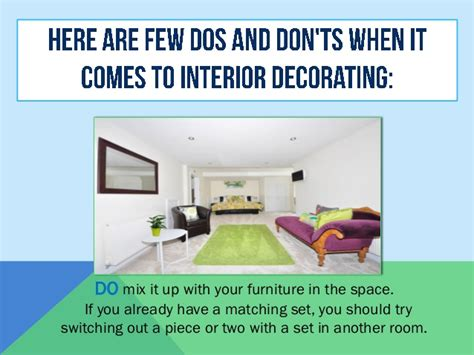 Dos And Don Ts For Interior Decorating