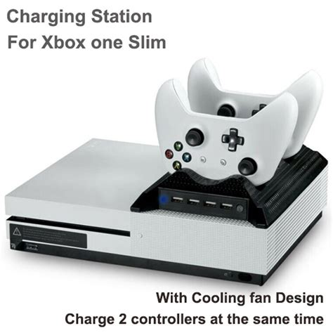 xbox one controller with fan dual charging station dock with cooling fan for xbox one