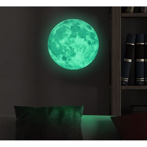 moon glow in the dark wall decal 30cm cheap wall