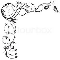 floral grenze mit schmetterling element f 252 r design