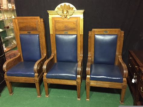 Masonic Chairs For Sale three masonic chairs 461572 sellingantiques co uk